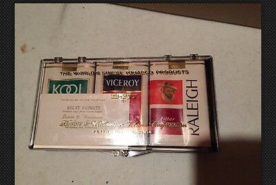 Brown & Williamson Corp Souvenir Cigarettes Unopened Kool Raleigh And Viceroy