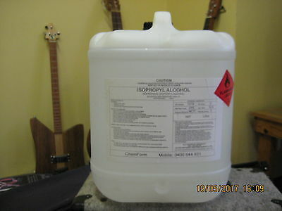 ISOPROPYL ALCOHOL , ISOPROPANOL,IPA  100%  20 litres drum    *** Pick up ONLY