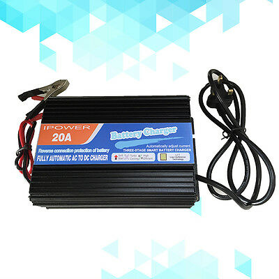 NEW 12V Battery Charger 20 Amp AC 230V to DC 12V 20A Car Boat Caravan Motorcycle