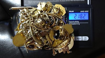 Gold Filled Gold Plated Scrap Lot for Gold Recovery Repair Weight 218.2 Grams
