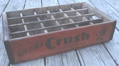 VTG Orange Crush with CRUSHY Soda Wooden Case Crate Bottle Carrier Catasaqua PA