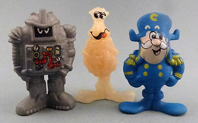 Vintage 1986 Captain Crunch lot of 3 PVC figures Soggies Squish the Sogmaster