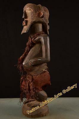 Old Tribal Songye Dropped Head Figure Congo Africa Fes-58
