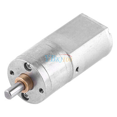 DC 12V 15-200RPM 20mm Dia High Torque Electric Gear Box Motor Speed Reduction gb