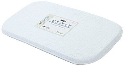 Colgate Bassinet Mattress Foam Pad with Waterproof White Quilted Cover, Oval,