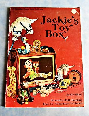 JACKIE'S  TOY  BOX  Folk Art Book by Jackie Shaw ~ 1982 Softcover