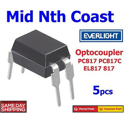 5pcs x PC817 PC817C EL817 817 Optocoupler Everlight DIP-4