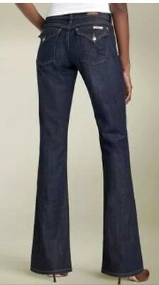 David Kahn Jeans 'Nikki' Western Flap Pocket Stretch Size 25X35 Boot Cut $179
