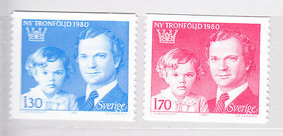 Sweden 1980 - Succession to Throne - Complete set - MNH