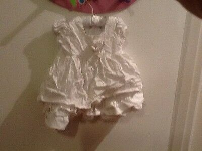 baby girls size 00 white dress by pumpkin patch