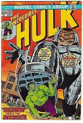 INCREDIBLE HULK #167 (FN) Hulk vs. MODOK! Classic Bronze-Age Issue! 1973