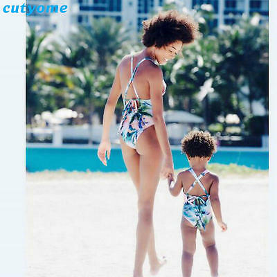 Swimwear Outfits Mommy Matching One Piece Daughter Clothes Beach Bathing Suit
