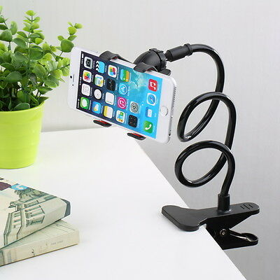 Universal Lazy Bed Desk Car Clip Stand Mount Holder For Cell Phone Long Arm NeDS