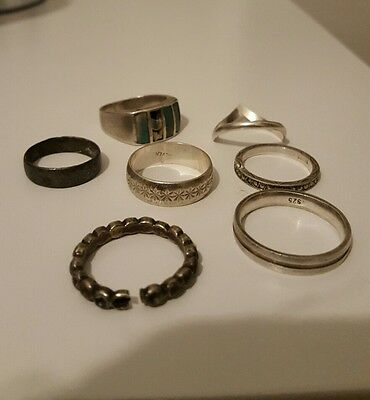silver rings metal detecting beach finds