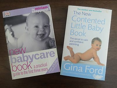 Gina Ford / Dr Mirriam Stoppard - Baby Books - Good Condition