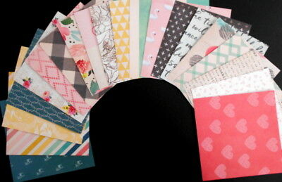 """VINTAGE ESCAPE""   Scrapbooking/Cardmaking Papers X 20 - 15cm x 15cm (6"" x 6"")"