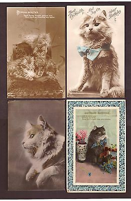 Postcard: Vintage Cats - group of (4).