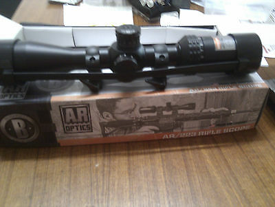 Bushnell Ar/223 Dropzone Rifle Scope 3-12x40mm with low QD rings