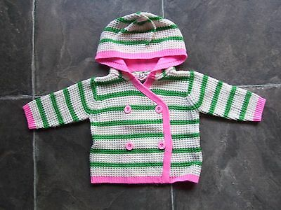BNWNT Baby Girl's Cotton On Kids Knitted Hoodie/Hooded Jacket Size 00