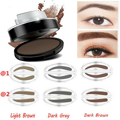 Pop Natural Eyebrow Powder Makeup Brow Stamp Palette Delicated Shadow Definition