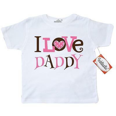 Inktastic I Love Daddy Cute Toddler T-Shirt Dad Girls Baby Girl Family Child Dot