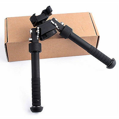"4.75""-9"" Foldable Tactical QD Picatinny RIS Rail Mount Adjustable Rifle Bipod"