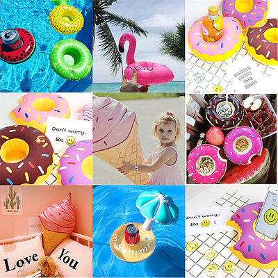 Inflatable Pool Tropical Flamingo Fruit Donuts Floating Coasters Party Favor Toy