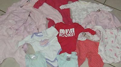 Bulk baby girls winter clothes size 0000- newborn