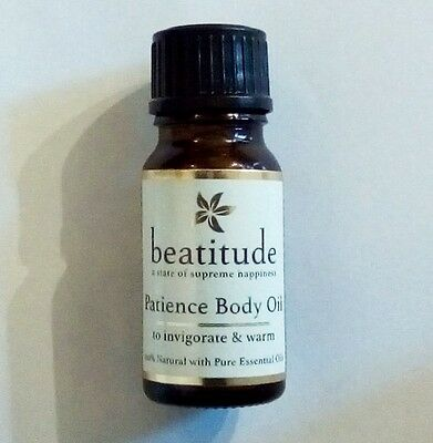 BEATITUDE Patience Body Oil 10 ml & Bath oil 5ml Travel size with essential oils