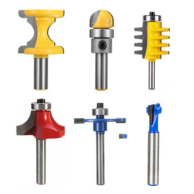 """1/2""""/1/4"""" Shank Router Cutter Bit Flush Template Trim Chisel For Biscuit Joiner"""