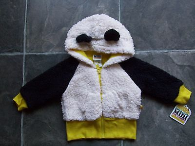 BNWT Baby Girl's/Boy's Unisex Fluffy Hoodie/Hooded Jacket/Coat Size 00
