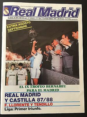 1987 Bernabeu Trophy.Final.Real Madrid - Everton. official magazine
