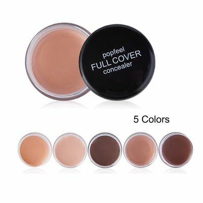 Pro Full Cover Concealer Loose Face Cream Foundation Smooth Finishing Powder