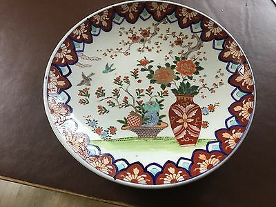 Large Vintage Charger ( Japanese Imari ??? ) not sure see photos. Approx. 15inch