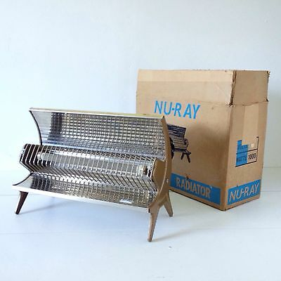 Vintage NU-RAY Electric Heater Original Box Mid Century