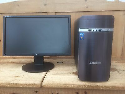 Zoostorm Desktop PC Intel i5 3.2ghz 8GB RAM -Mint Condition & Clean Win7 install