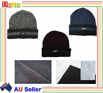 MEN WINTER Warm Ski Knit THINSULATE Thermal INSULATION BEANIE Hat Cap Beanies
