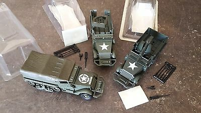Solido Lot De 3 Vehicules Us Army Half Track M3 Tous Differents