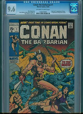Conan #1 CGC 9.6 OW/White Pages First Conan Appearance Barry Smith Art