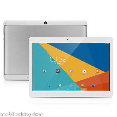 "10.1"" 3G PC Tableta Octa Core Android 5.1 16GB Tablet Doble Cámara WIFI Blanco"