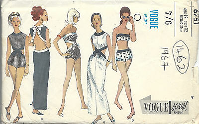 1950s Vintage Vogue Sewing Pattern Dress B32 Quot R353 163 15