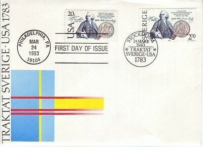 Sweden - Joint Issue with USA (Dual Country Cancels PO FDC) 1983