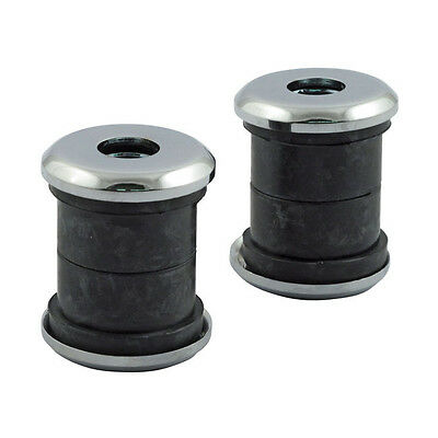 Riser Damper Rubber, with Discs Chrome, For Harley - Davidson