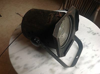 Old vintage Theatre Stage Movie Industrial Spotlight Lamp