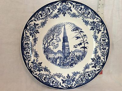 Vintage Wedgwood Patrington East Yorkshire Blue & White Plate