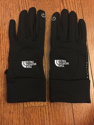 The North Face Black Adult Gloves Size Large With Etip EUC
