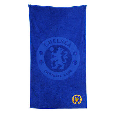 Chelsea Fc Embroidered Blue Towel Bath Beach Gym Swim 100% Cotton New Xmas Gift