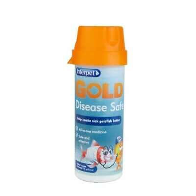 Interpet Gold Disease Safe Treatment 100ml Healthy Aquarium Fish Tank Fungal Rot