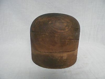 Vtg Antique Wooden Hat Form Millinery Hatmakers Primitive Display (B)