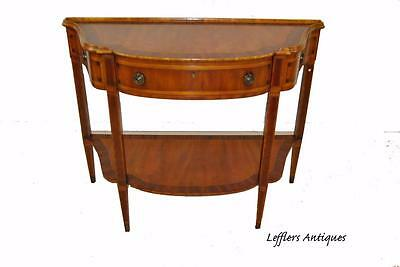 Alfonso Marina Inlaid Mahogany Console Server Barold Collection
